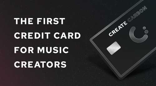 Create Carbon - The first credit card for music creators